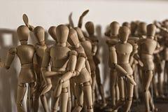 Hölzerne Puppen für das Zeichnen Lizenzfreie Stockbilder
