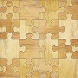 Hölzerne Puzzlespiele - nahtloser Hintergrund stock abbildung