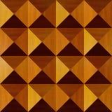 Hölzerne Pyramiden gestapelt für nahtlosen Hintergrund stockbilder
