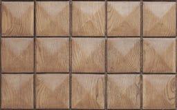 Hölzerne quadratische Beschaffenheit Stockbilder