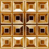 Hölzerne quadratische Beschaffenheit Lizenzfreie Stockbilder