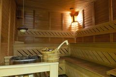 Hölzerne Sauna Lizenzfreie Stockfotografie