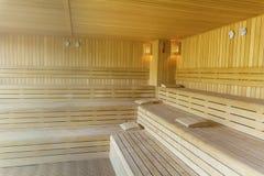 Hölzerne Sauna stockfoto