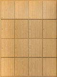 Hölzerne Schließfächer Stockbilder