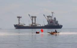Hölzerne Schnellbootregatta Stockbilder