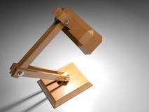 Hölzerne Schreibtischlampe - Wiedergabe 3D Stockfotografie