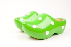 Hölzerne Schuhe stockbild