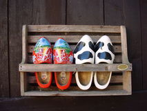 Hölzerne Schuhe Lizenzfreies Stockfoto