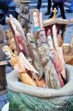 Hölzerne Skulpturen stockbild