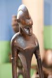 Hölzerne Skulpturen von Afrika stockfoto