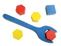 Hölzerne Spielwaren Stockbild