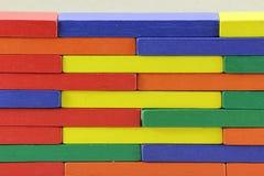 Hölzerne Spielwaren oder Toy Blocks Lizenzfreie Stockfotografie
