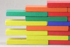Hölzerne Spielwaren oder Toy Blocks Lizenzfreie Stockfotos