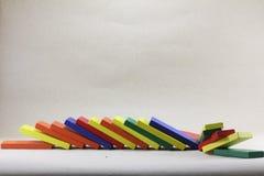 Hölzerne Spielwaren oder Toy Blocks Stockfotos