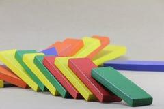 Hölzerne Spielwaren oder Toy Blocks Stockbilder