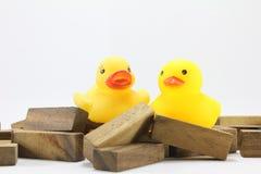 Hölzerne Spielwaren oder Toy Blocks Lizenzfreie Stockbilder