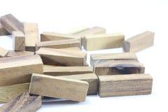 Hölzerne Spielwaren oder Toy Blocks Stockfotografie