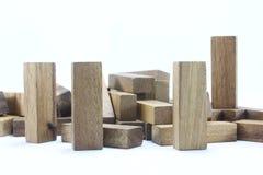 Hölzerne Spielwaren oder Toy Blocks Stockfoto