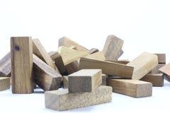 Hölzerne Spielwaren oder Toy Blocks Stockbild
