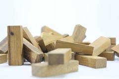 Hölzerne Spielwaren oder Toy Blocks Lizenzfreies Stockbild