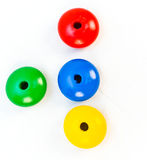 Hölzerne Spielzeug-Korne Stockfotos