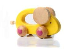 Hölzerne Spielzeug-Maus stockfotos