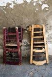 Hölzerne Stühle Stockfoto
