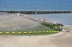 Hölzerne Stapel, Basalt, Strand, Meer stockfoto