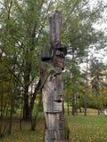 Hölzerne Statue Stockbilder