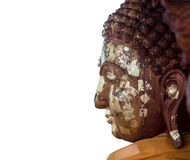 Hölzerne Statue von Buddha Stockfotos