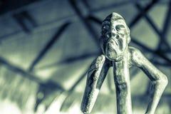 Hölzerne Statuette der Stammes- Art Lizenzfreies Stockbild