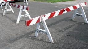 Hölzerne Straßen-Sperren Stockfotos