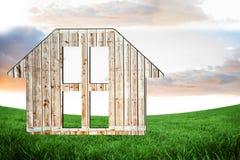Hölzerne Struktur des Hauses Stockfoto