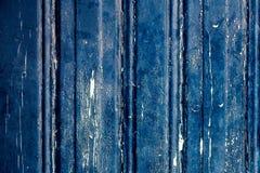 Hölzerne strukturierte Wand des blauen Schmutzes Alte hölzerne Beschaffenheit mit Knoten Stockbild