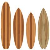 Hölzerne Surfbretter stock abbildung