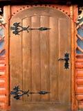 Hölzerne Tür lizenzfreie stockbilder