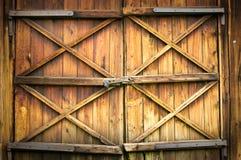 Hölzerne Tür Lizenzfreies Stockbild
