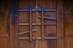 Hölzerne Tür Stockbild