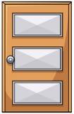 Hölzerne Tür lizenzfreie abbildung