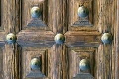 Hölzerne Tür Stockfotografie
