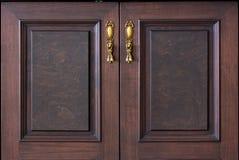 Hölzerne Tür der Weinlese Lizenzfreie Stockbilder