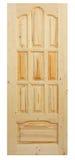 Hölzerne Tür gebildet worden vom Koniferenbaum Lizenzfreies Stockbild