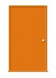 Hölzerne Tür mit unbelegtem Fenster Lizenzfreies Stockfoto