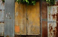 Hölzerne Türen Stockfoto