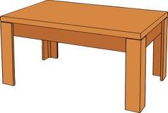 Hölzerne Tabelle auf weißem Hintergrund Stockbilder