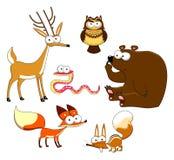 Hölzerne Tiere. lizenzfreie abbildung