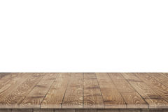 Hölzerne Tischplattenperspektive für Produktplatzierung Lizenzfreies Stockfoto