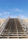 Hölzerne Treppe Stockfoto