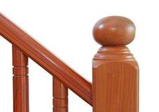 Hölzerne Treppe und Handlauf Stockfotografie