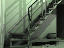 Hölzerne Treppen stock abbildung